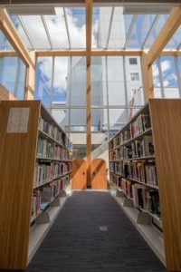 The medical library in the new Learning and Development Centre. Photo credit: 6ixSigma Productions and PG Air